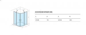 Uchwyt meblowy Defra/Deftrans 55 cm czarny mat MO-U-UCH-0027