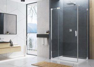 Ścianka prysznicowa SanSwiss Cadura CAT1 90x200 cm srebry połysk CAT10905007