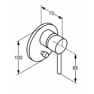 Zdjęcie Podtynkowa bateria wannowo-natryskowa Kludi Bozz (z małymi rozetami) czarny mat 387163976