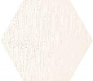 Płytka dekoracyjna Tubądzin Mild Garden white hex 22,1x19,2 cm
