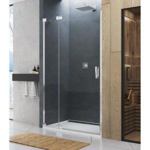 Drzwi prysznicowe wahadłowe lewe SanSwiss Cadura CA13 120x200 cm srebrny połysk CA13G1205007