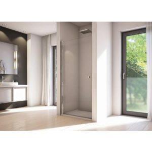 Drzwi prysznicowe uchylne SanSwiss Solino SOL1 90x200 cm srebrny połysk / szkło przezroczyste SOL109005007
