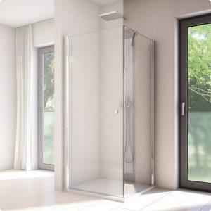 Ścianka prysznicowa boczna SanSwiss Solino SOLT1 90x198,4 cm srebrny połysk / szkło przezroczyste SOLT109005007