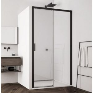 Drzwi prysznicowe SanSwiss Top-Line S 120x200 cm prawe czarny mat/szkło przezroczyste TLS2D1200607