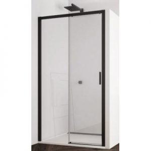 Drzwi prysznicowe SanSwiss Top-Line S 120x200 cm lewe czarny mat/szkło przezroczyste TLS2G1200607