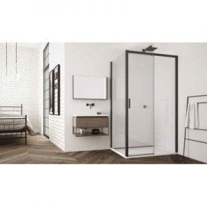 Ścianka prysznicowa boczna SanSwiss Top-Line S  90 cm czarny mat/szkło przezroczyste TOPF20900607