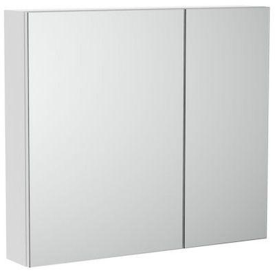 Szafka łazienkowa z lustrem Roca Luna 80 cm biały mat A857376472