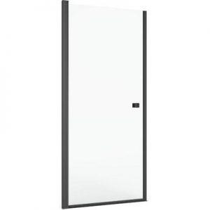 Drzwi prysznicowe wnękowe Roca Capital 80x195 cm czarny mat/szkło przezroczyste MaxiClean AM4708016M