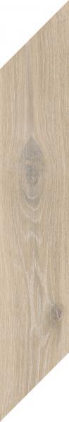 Płytka podłogowa Paradyż Heartwood Latte Chevron Prawy Mat 9,8x59,8 cm