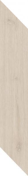 Płytka podłogowa Paradyż Heartwood Crema Chevron Lewy Mat 9,8x59,8 cm