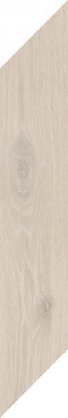 Płytka podłogowa Paradyż Heartwood Crema Chevron Prawy Mat 9,8x59,8 cm