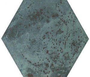 Inserto szklane Heksagon Paradyż Unique Lady Green 19,8x17,1 cm