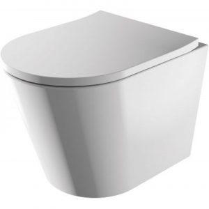 Miska WC wisząca 51,5x36 cm + deska WC wolnoopadająca Omnires Tampa biały TAMPAMWBP @