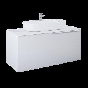 Szafka podumywalkowa Elita Glam 120 1S+1S Biała White mat 122x54x47,1 cm 168382