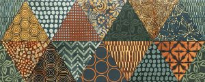 Płytka dekoracyjna Tubądzin Goldgreen B 74,8x29,8 cm