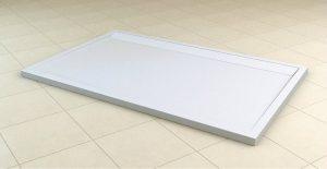 Brodzik prostokątny konglomeratowy SanSwiss WIA 80x90 cm biały WIA800900404 @