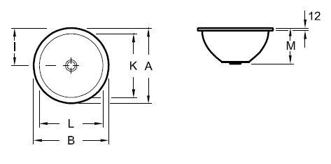 Zdjęcie Umywalka podblatowa okrągła Villeroy & Boch Loop&Friends 45×45 cm weiss alpin 61803801