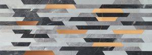 Płytka dekoracyjna Tubądzin Brainstorm grey 89,8x32,8 cm