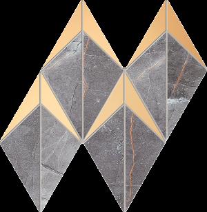 Mozaika ścienna Tubądzin Brainstorm graphite 23,1x19,6 cm