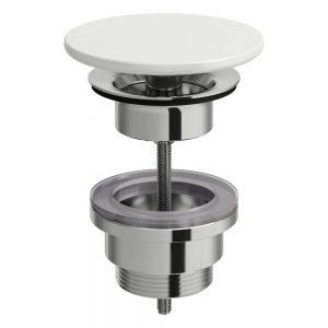 Otwarty zestaw odpływowy Laufen z ceramiczną osłoną odpływu biały H8981880000001