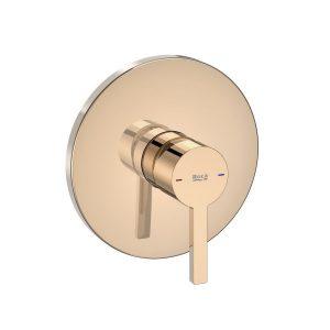 Bateria wannowa lub prysznicowa 1 – uchwytowa podtynkowa Roca Naia rose gold A5A2B96RG0