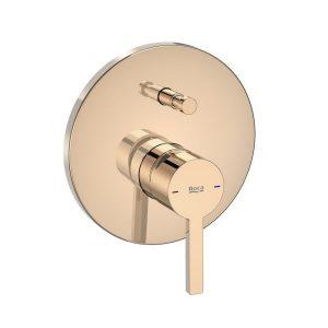 Bateria wannowo - prysznicowa 1 – uchwytowa podtynkowa Roca Naia rose gold A5A0B96RG0