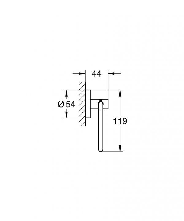 Zdjęcie Uchwyt na papier Grohe Essentials Polished nickel 40689BE1