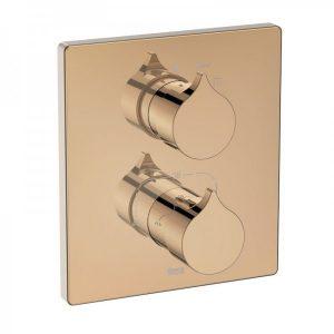 Bateria prysznicowa termostatyczna jednouchwytowa podtynkowa Roca Insignia rose gold A5A2C3ARG0