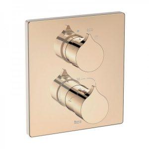 Bateria prysznicowo - wannowa termostatyczna jednouchwytowa podtynkowa Roca Insignia rose gold A5A0C3ARG0